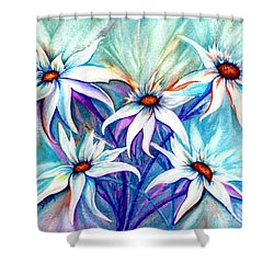 Shasta Daisy Dance Shower Curtain by Janine Riley