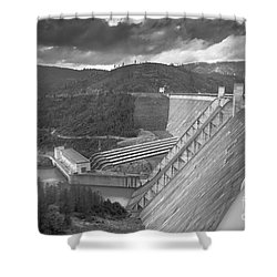 Shasta Lake Dam Shower Curtain