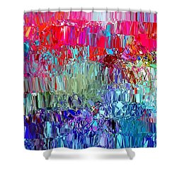 Shattered Shower Curtain by The Art of Alice Terrill