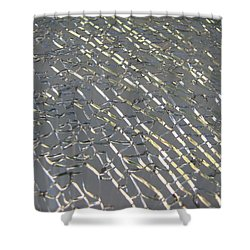 Shower Curtain featuring the photograph Shattered by Beth Vincent