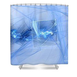 Shower Curtain featuring the digital art Shattered by Victoria Harrington