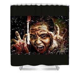 Shattering Horror Shower Curtain