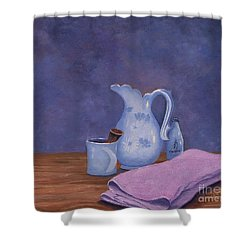 Shaving Mug Shower Curtain
