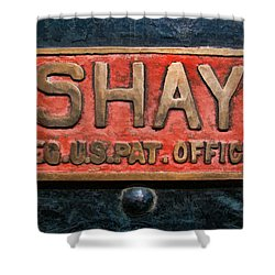 Shay Builders Plate Shower Curtain