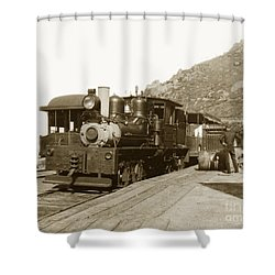 Shower Curtain featuring the photograph Shay No. 498 At The Summit Of Mt. Tamalpais Marin Co California Circa 1902 by California Views Mr Pat Hathaway Archives