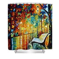 She Left.... New Version Shower Curtain by Leonid Afremov