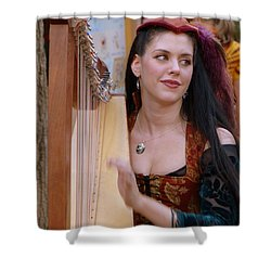 She Plays In Beauty Shower Curtain by Rodney Lee Williams