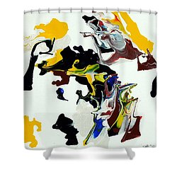 She Talks To Angels Shower Curtain