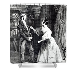 She Then Told Him What Mr Darcy Had Voluntarily Done For Lydia Shower Curtain by William Greatbach