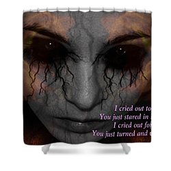 She Turned And Walked Away Shower Curtain