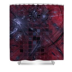 Shower Curtain featuring the digital art She Wants To Be Alone by Jeff Iverson
