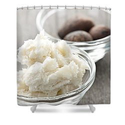 Shea Butter And Nuts In Bowls Shower Curtain by Elena Elisseeva