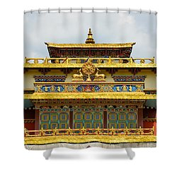 Shechen Monastery In Kathmandu Shower Curtain