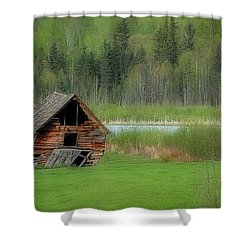 Shed By The Lake Shower Curtain by Dyle   Warren