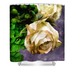 Shedding Stardust Shower Curtain by RC deWinter