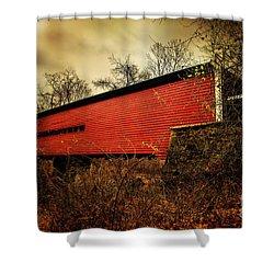Sheeder Hall Covered Bridge 2 Shower Curtain