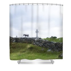 Sheep And Cross Shower Curtain