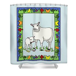 Sheep Artist Sheep Art II Shower Curtain by Audra D Lemke