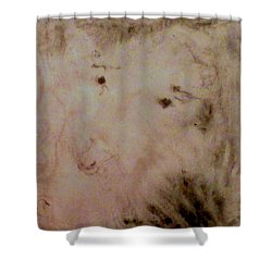 Shower Curtain featuring the painting Sheep Dog by Mike Breau
