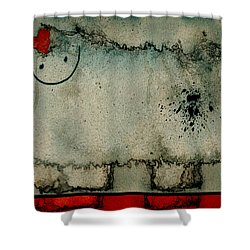 Sheep Or Not So - Bb06 Shower Curtain by Variance Collections