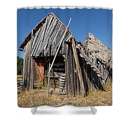 Sheep Shed Shower Curtain by Kathleen Bishop