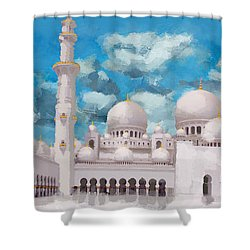 Sheikh Zayed Mosque Shower Curtain by Catf