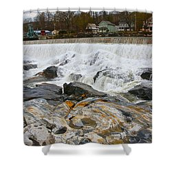 Shelburne's Falls Shower Curtain by Randi Shenkman