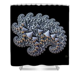 Shower Curtain featuring the digital art Shell Amoeba by Manny Lorenzo