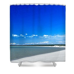 Shell Beach Shower Curtain by Yew Kwang