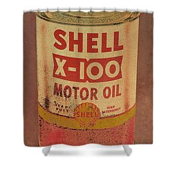 Shell Motor Oil Shower Curtain