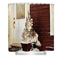 Shelter From The Storm - Blizzard - Snow Storm Shower Curtain by Barbara Griffin