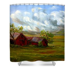 Shelter From The Storm Shower Curtain by Meaghan Troup