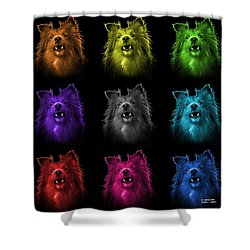 Sheltie Dog Art 0207 - Bb - M Shower Curtain