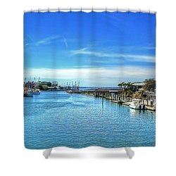 Shower Curtain featuring the photograph Shem Creek by Kathy Baccari
