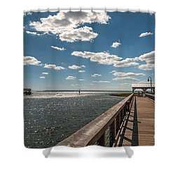 Shem Creek Pavilion  Shower Curtain