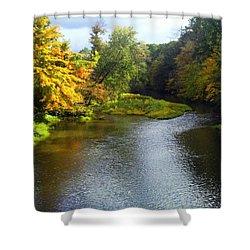 Shenago River @ Iron Bridge Shower Curtain