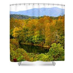 Shenandoah River Shower Curtain