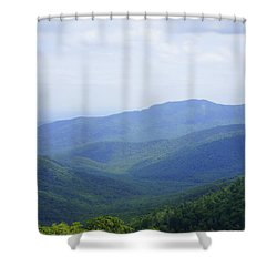 Shenandoah View Shower Curtain by Laurie Perry