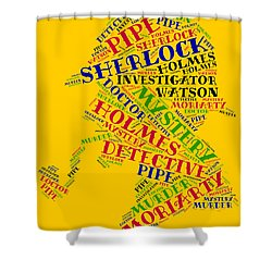 Sherlock Holmes Shower Curtain by Bruce Nutting