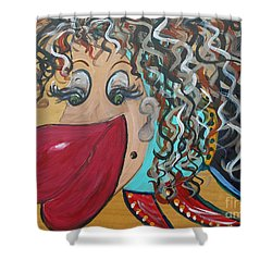 Shower Curtain featuring the painting She's A Beauty by Eloise Schneider