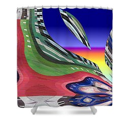 She's Leaving Home Abstract Shower Curtain