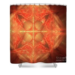 Shield Of Faith Shower Curtain by Margie Chapman