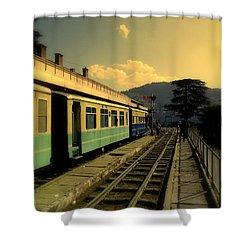 Shimla Railway Station Shower Curtain by Salman Ravish