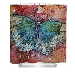 Shimmer Wings Shower Curtain by Ruth Kamenev