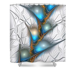 Shimmering Lights Shower Curtain by Anastasiya Malakhova