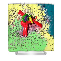 Shower Curtain featuring the photograph Shimmering Lobster by Joseph Baril