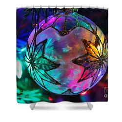 Shower Curtain featuring the photograph Shimmering Multifacted Glow by Judy Palkimas