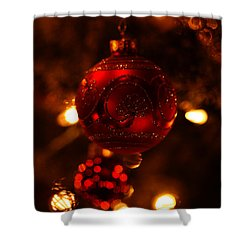 Shower Curtain featuring the photograph Shimmering Reflection by Linda Shafer