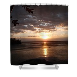 Shower Curtain featuring the photograph Shimmering Sunrise by James Peterson