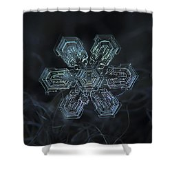Snowflake Photo - Shine Shower Curtain